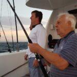 Fishing trip in Durban aboard the Spirit of Elan - Old man catching fish